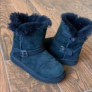 Other - Kids Furry Black Winter Boots